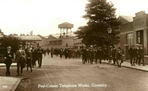 Peel Connor Telephone Works Stoke Coventry History photographs