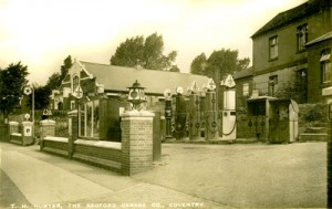 Radford Garage and Petrol Station  Radford Coventry 1930 photograph