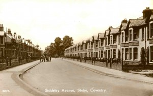 Siddley Avenue  Stoke Aldermoor Coventry History photographs