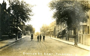 Station Street East Foleshill Coventry 1912 photograph
