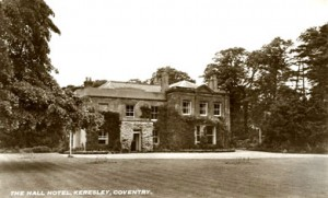 The Hall Hotel Kerseley Coventry Photograph history 1950