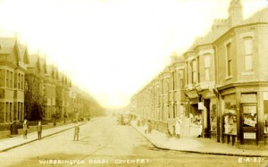 Widderington Road   Radford Coventry 1907 photograph